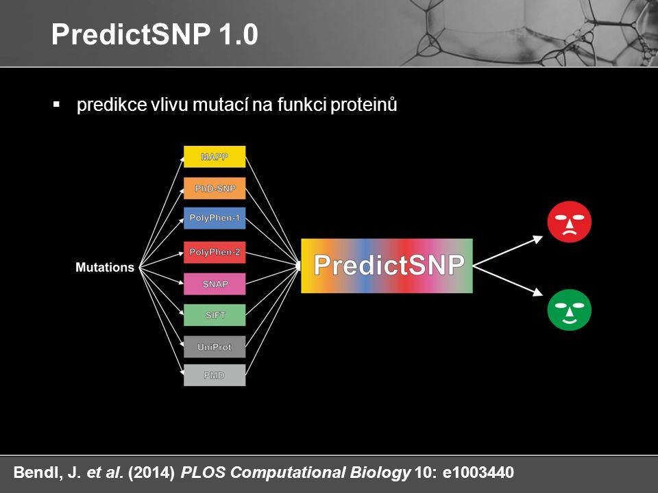 PredictSNP 1.0 predikce vlivu mutací na funkci proteinů