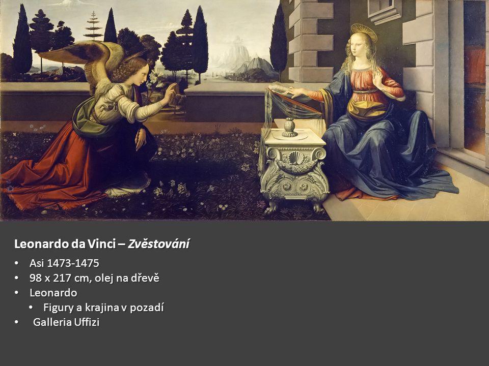Leonardo da Vinci – Zvěstování