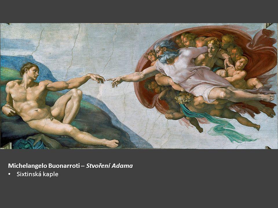 Michelangelo Buonarroti – Stvoření Adama