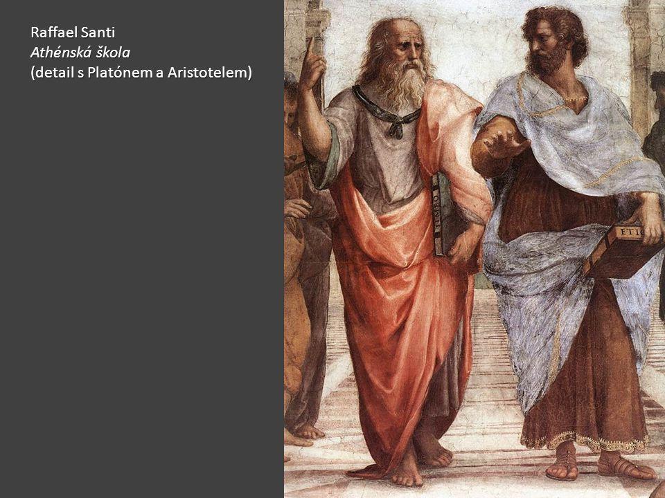 Raffael Santi Athénská škola (detail s Platónem a Aristotelem)