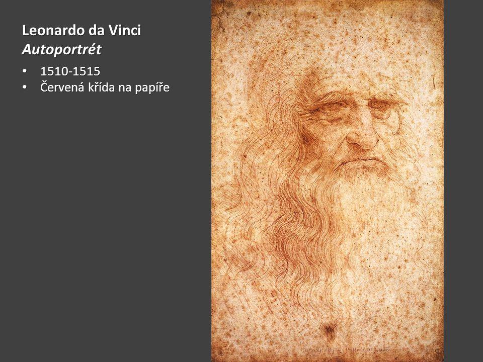 Leonardo da Vinci Autoportrét 1510-1515 Červená křída na papíře