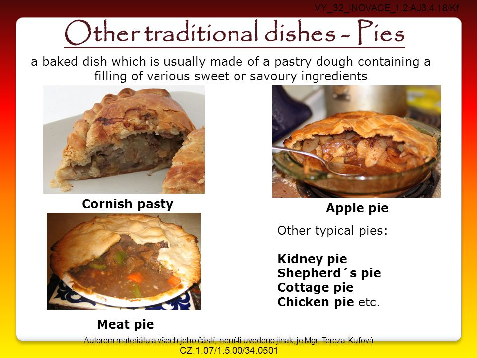 Other traditional dishes - Pies