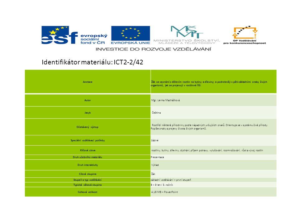 Identifikátor materiálu: ICT2-2/42