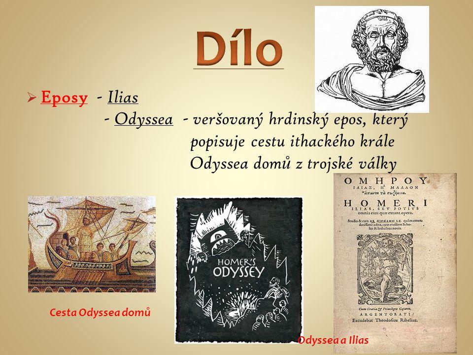 Dílo Eposy - Ilias.