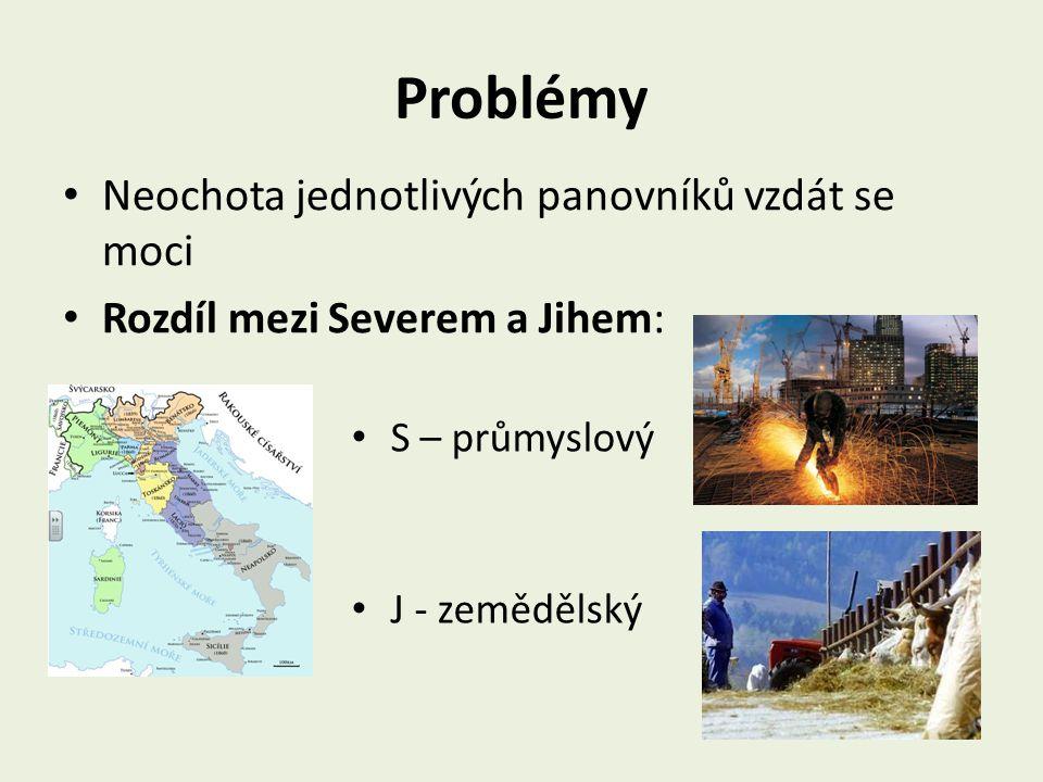 Problémy Neochota jednotlivých panovníků vzdát se moci