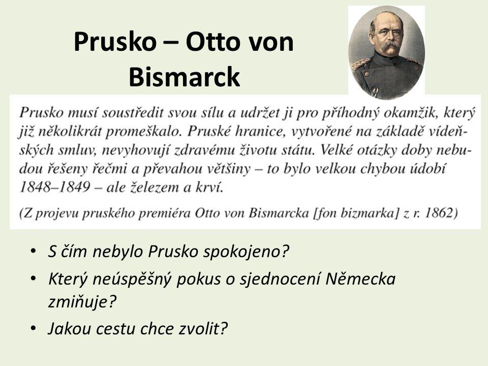 Prusko – Otto von Bismarck