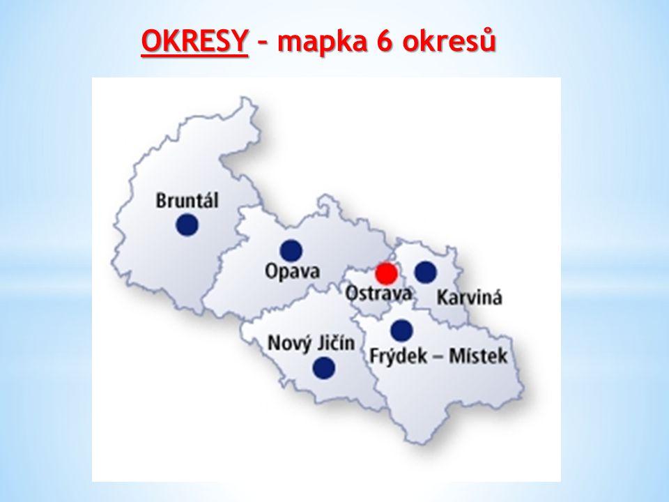 OKRESY – mapka 6 okresů