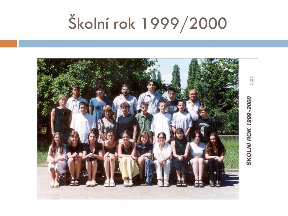 Školní rok 1999/2000