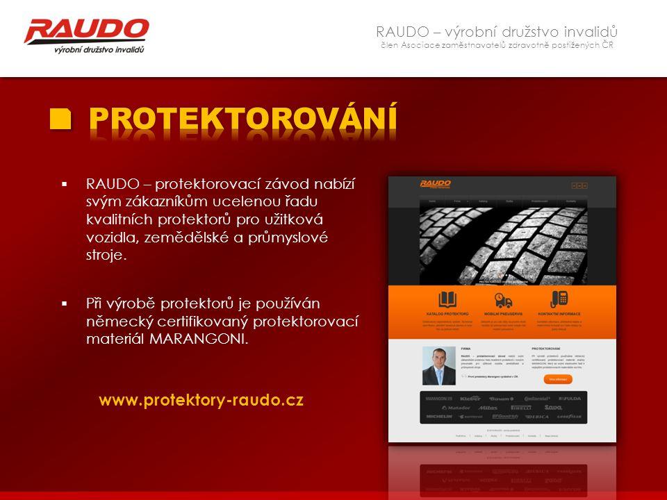 PROTEKTOROVÁNÍ www.protektory-raudo.cz