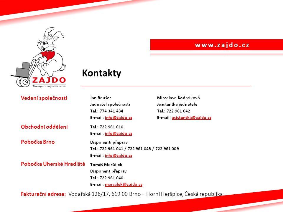 www.zajdo.cz Kontakty.