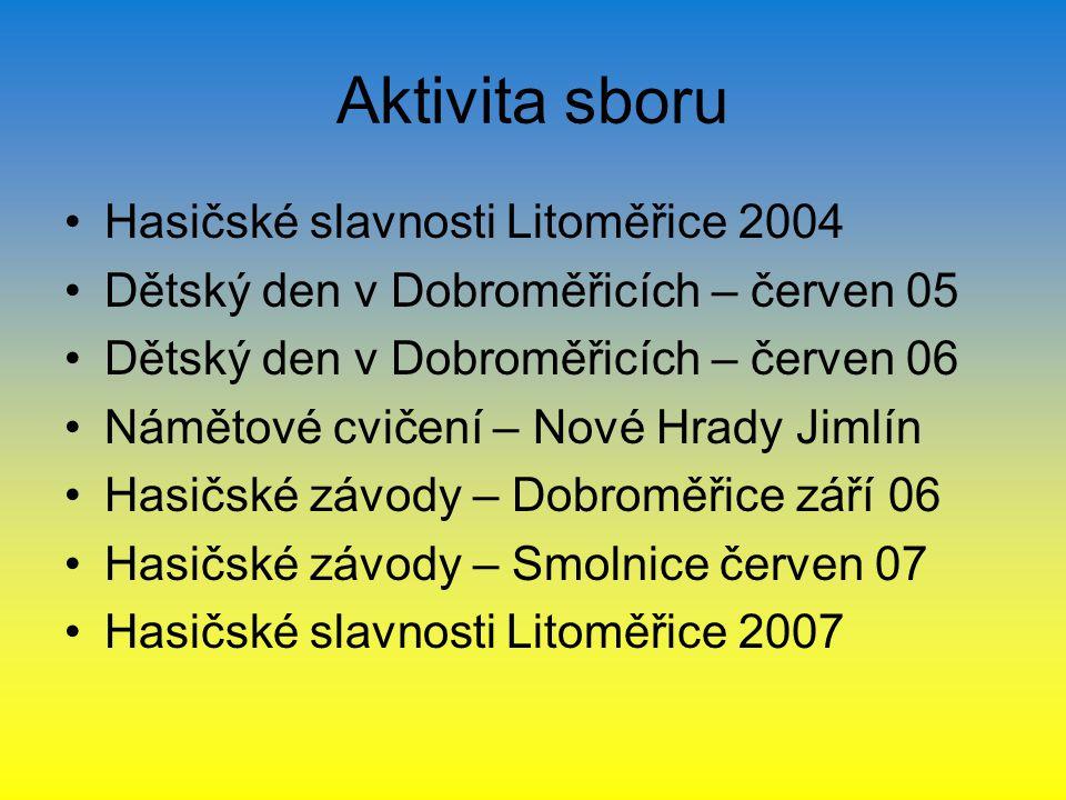 Aktivita sboru Hasičské slavnosti Litoměřice 2004