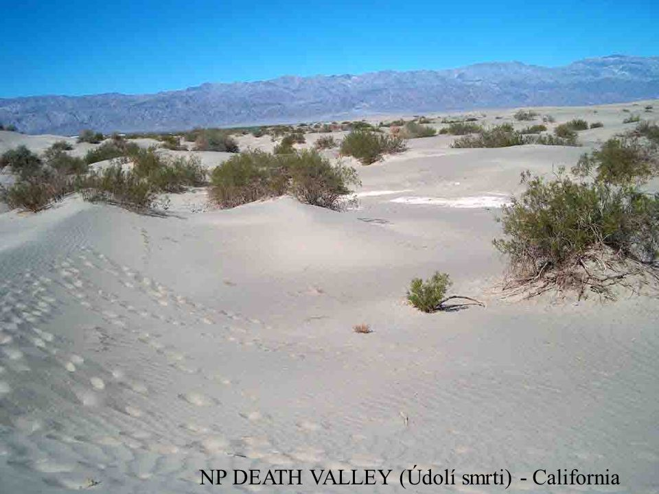 NP DEATH VALLEY (Údolí smrti) - California