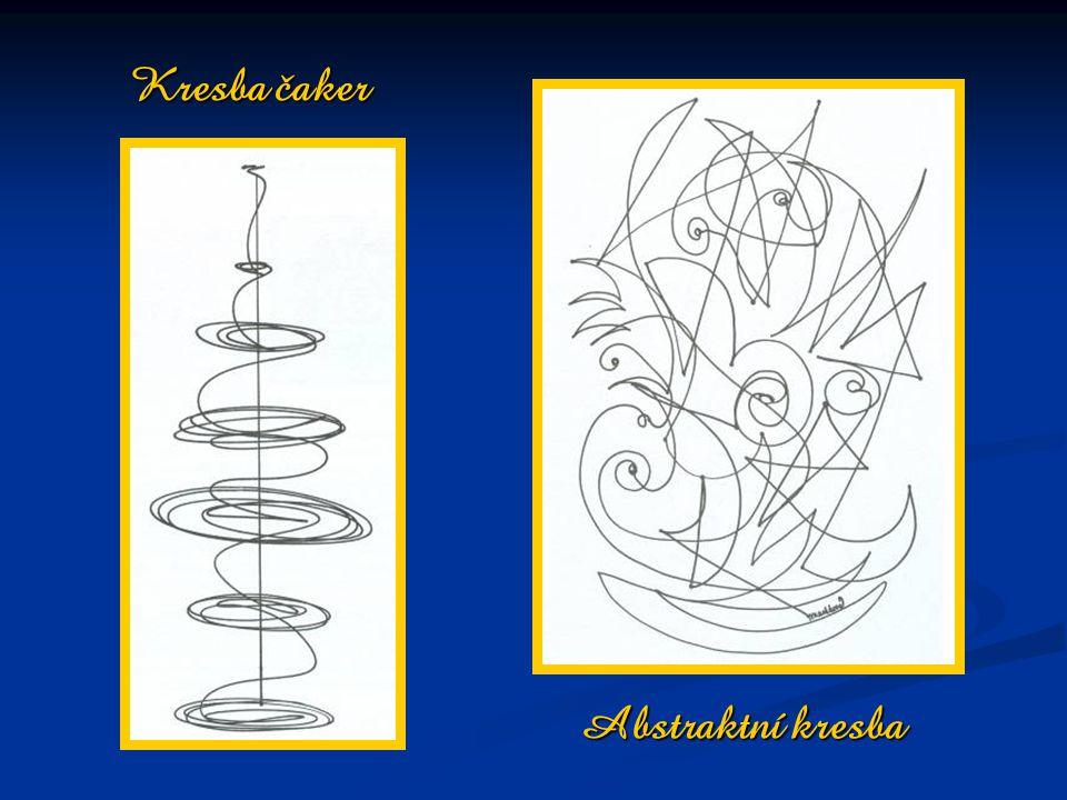 Kresba čaker Abstraktní kresba