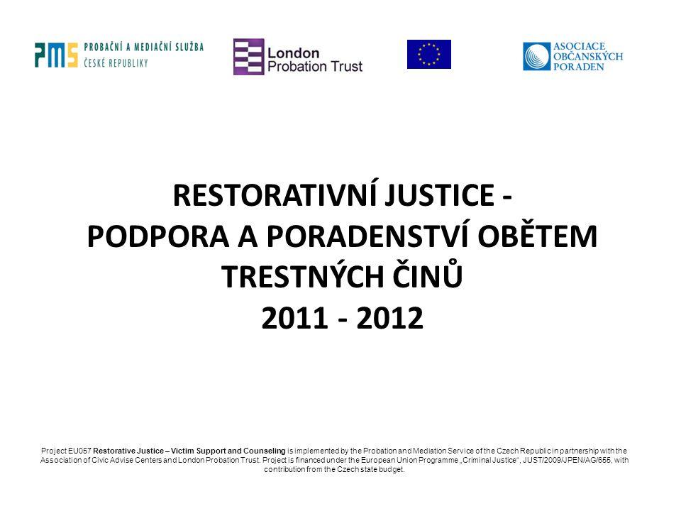 Restorativní justice - podpora a poradenství obětem trestných činů 2011 - 2012