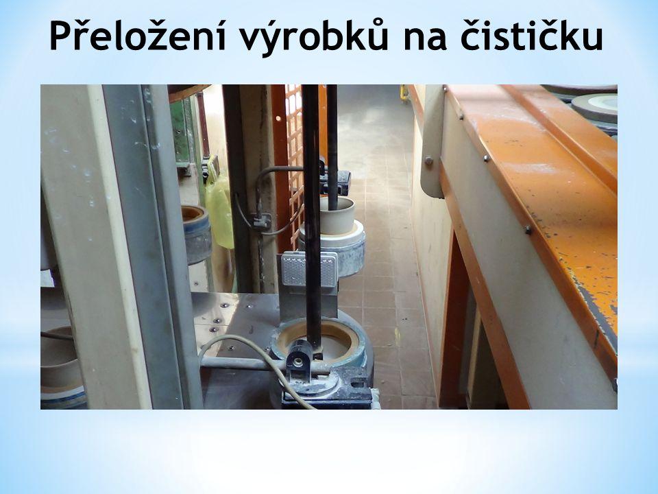 Přeložení výrobků na čističku