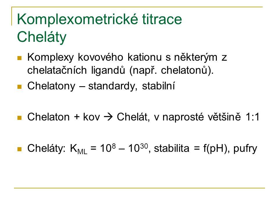 Komplexometrické titrace Cheláty