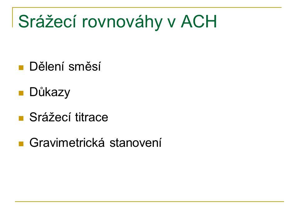 Srážecí rovnováhy v ACH