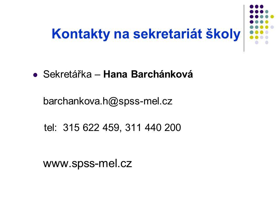 Kontakty na sekretariát školy