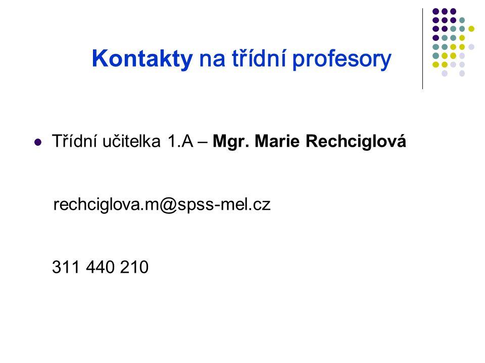 Kontakty na třídní profesory