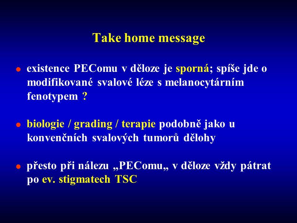 Take home message existence PEComu v děloze je sporná; spíše jde o