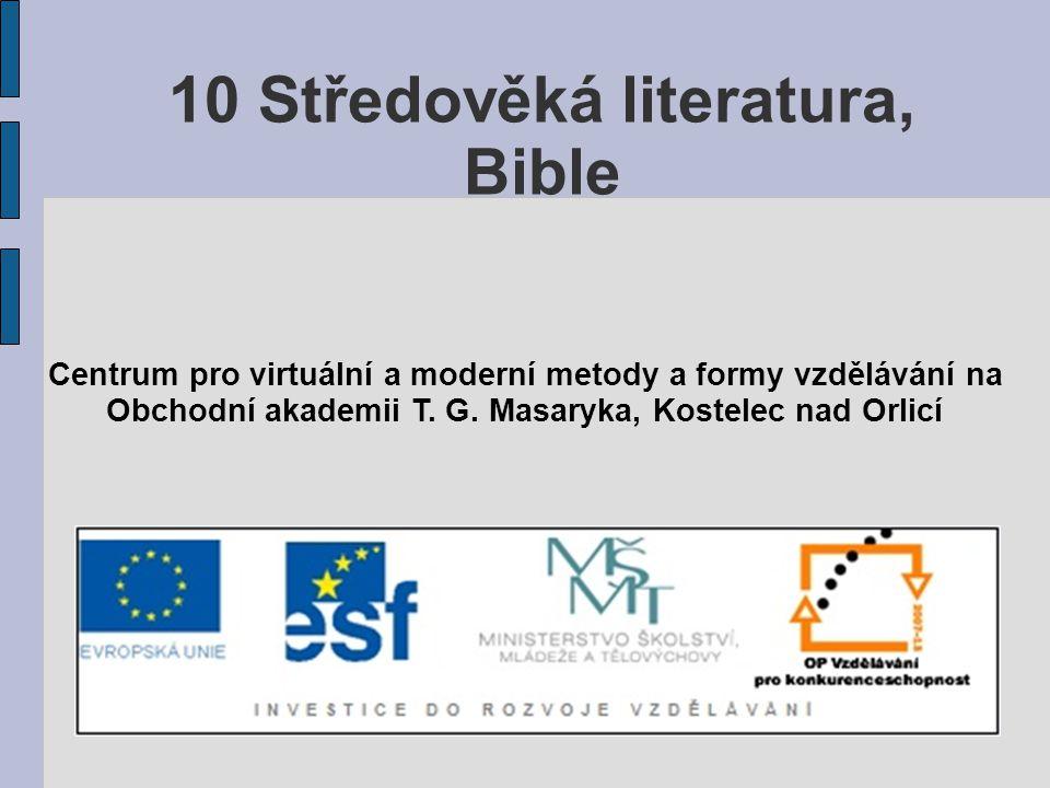 10 Středověká literatura, Bible