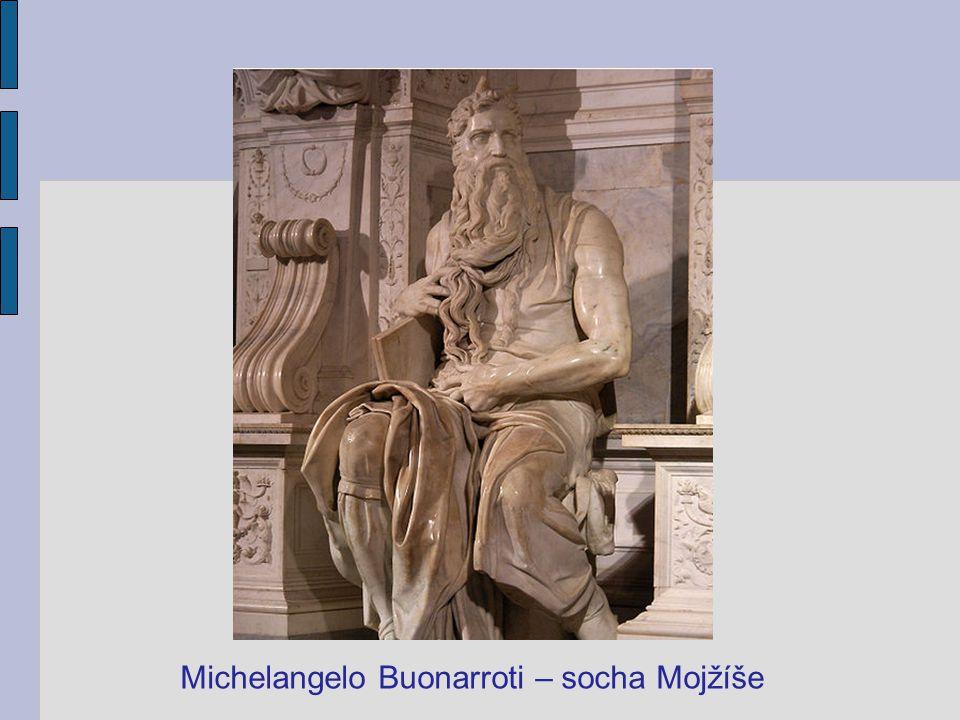 Michelangelo Buonarroti – socha Mojžíše