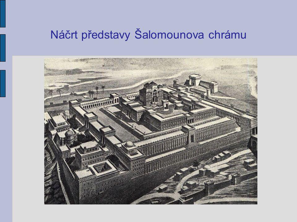 Náčrt představy Šalomounova chrámu