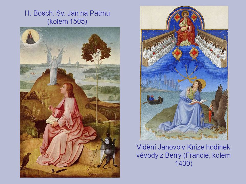 H. Bosch: Sv. Jan na Patmu (kolem 1505)