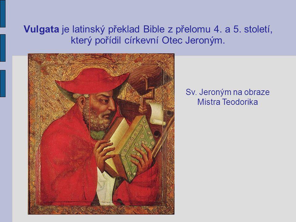Sv. Jeroným na obraze Mistra Teodorika