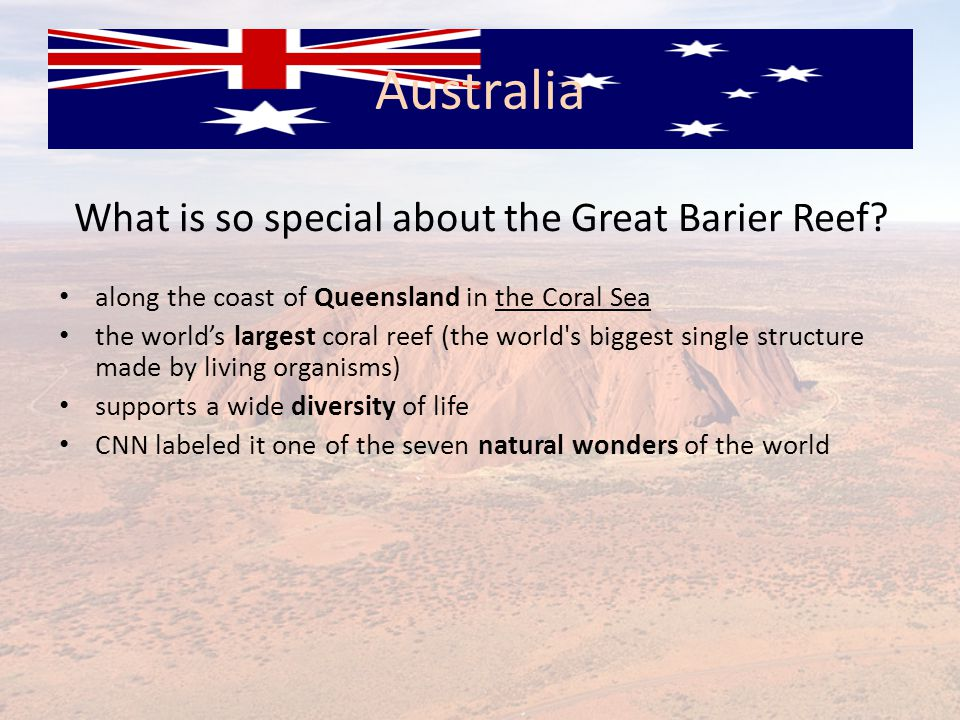 What is so special about the Great Barier Reef