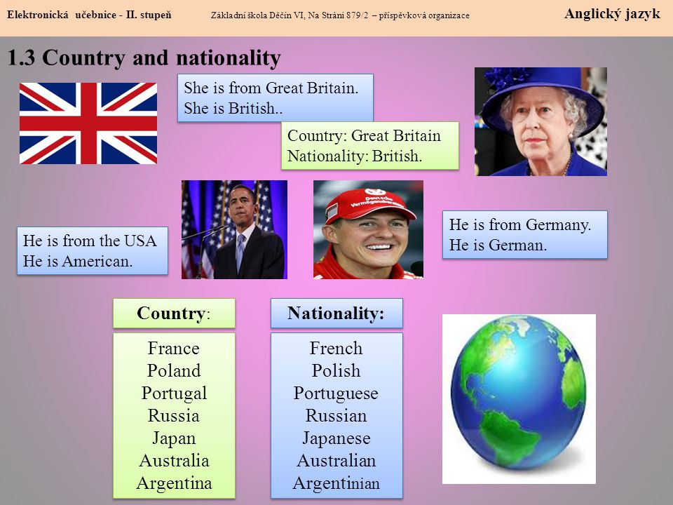 1.3 Country and nationality