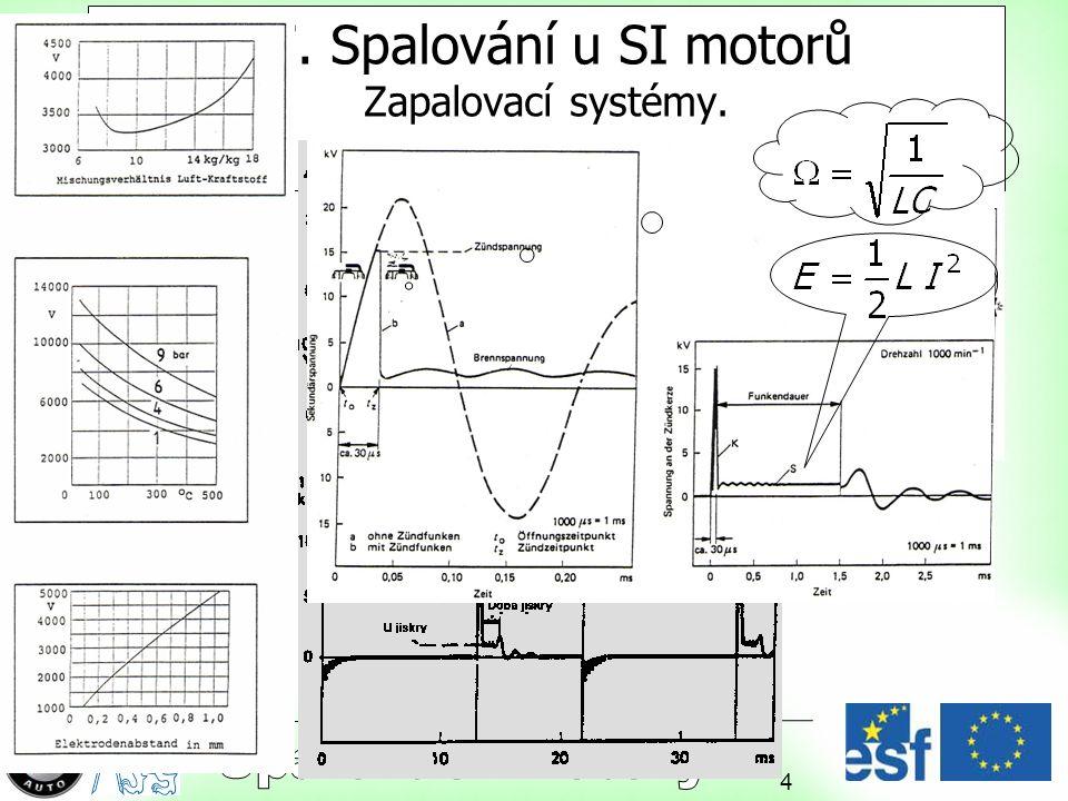 17. Spalování u SI motorů Zapalovací systémy.