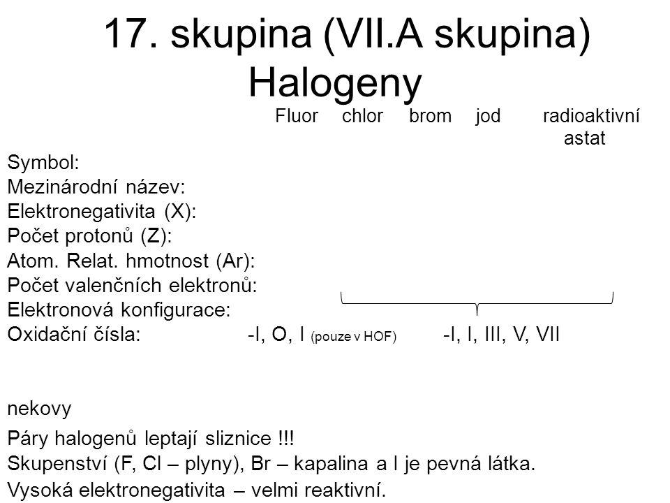 17. skupina (VII.A skupina)