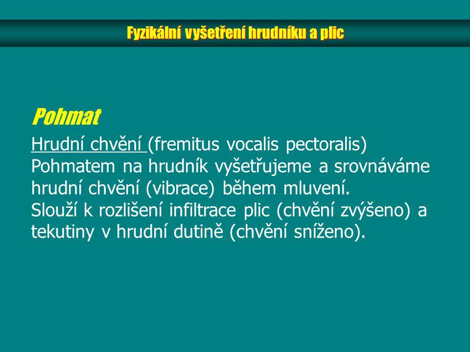 Fyzikální vyšetření hrudníku a plic