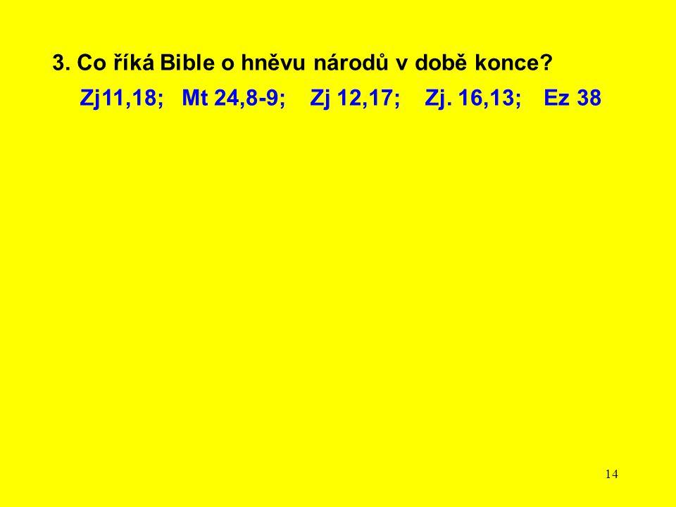 3. Co říká Bible o hněvu národů v době konce