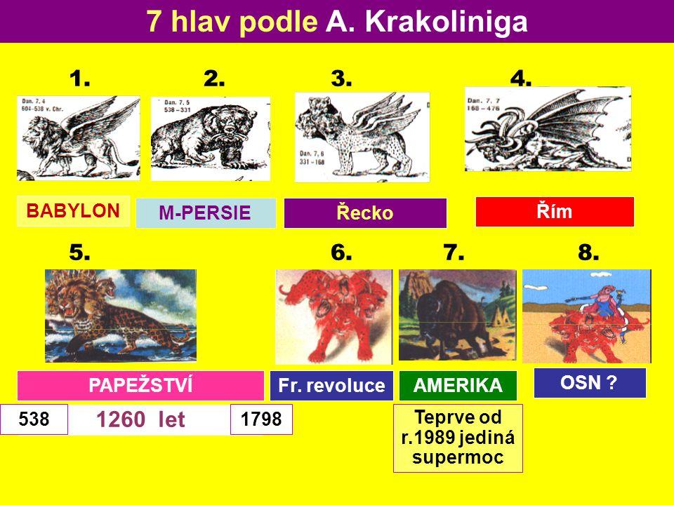 7 hlav podle A. Krakoliniga Teprve od r.1989 jediná supermoc