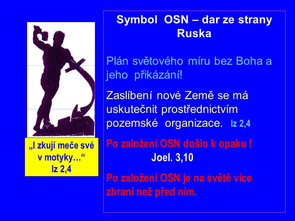 """Symbol OSN – dar ze strany Ruska """"I zkují meče své v motyky… Iz 2,4"""