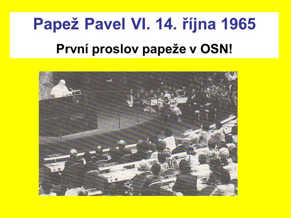 První proslov papeže v OSN!