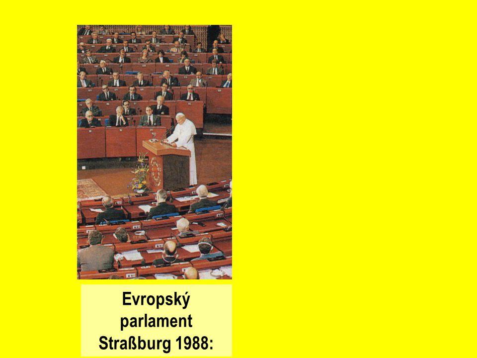 Evropský parlament Straßburg 1988: