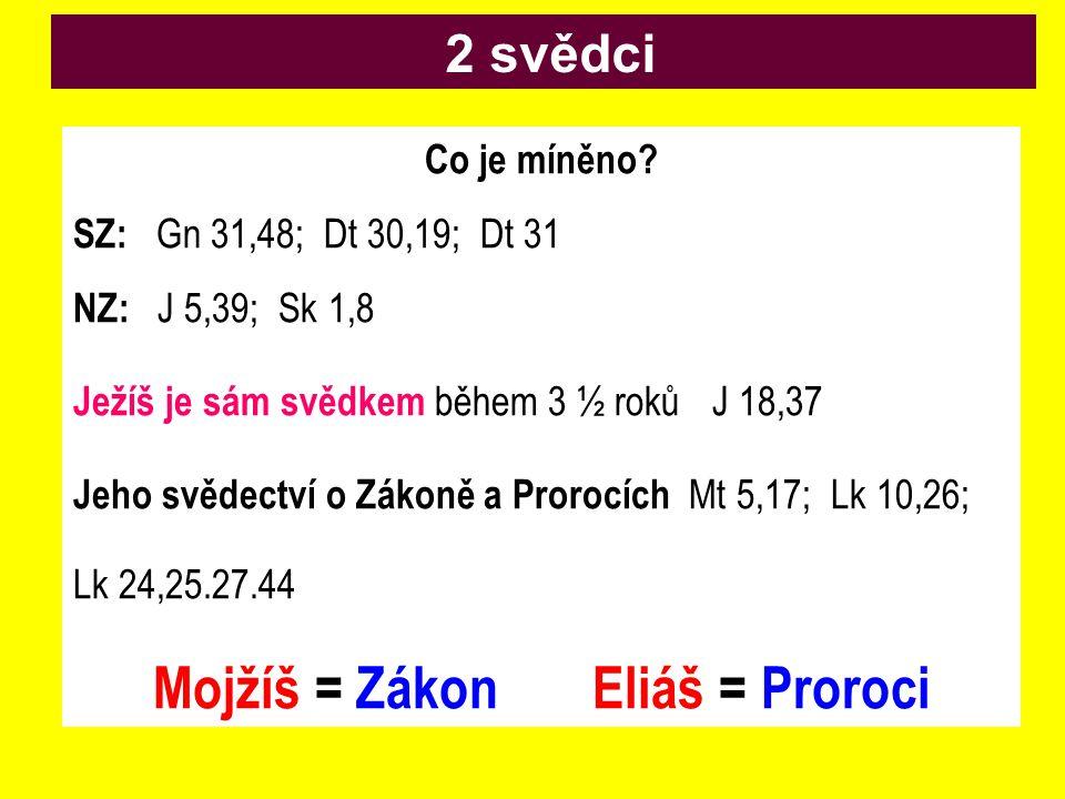 Mojžíš = Zákon Eliáš = Proroci
