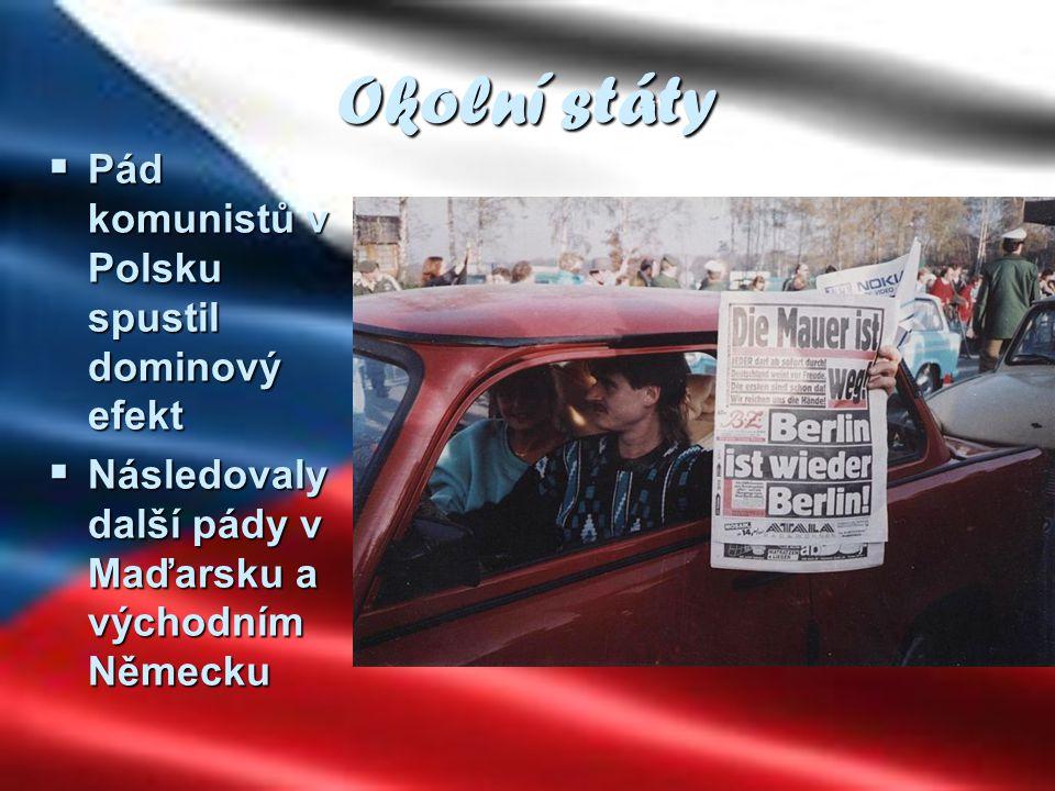 Okolní státy Pád komunistů v Polsku spustil dominový efekt