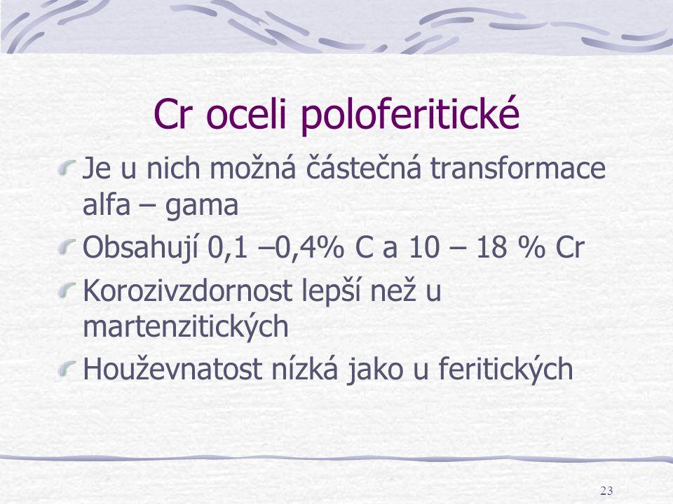 Cr oceli poloferitické