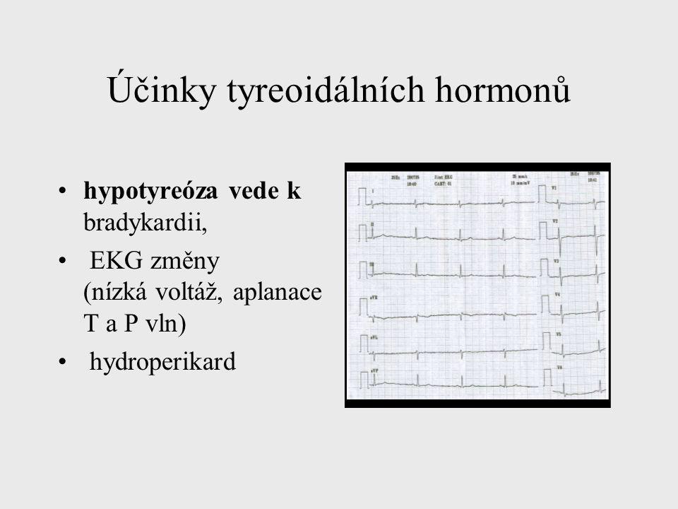 Účinky tyreoidálních hormonů