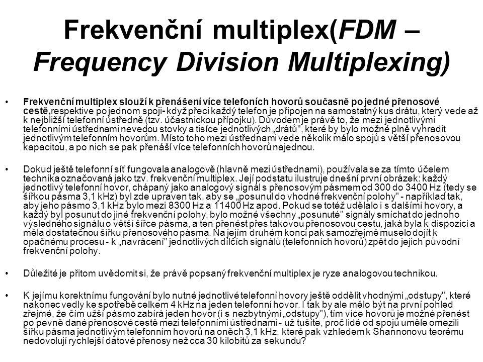 Frekvenční multiplex(FDM – Frequency Division Multiplexing)
