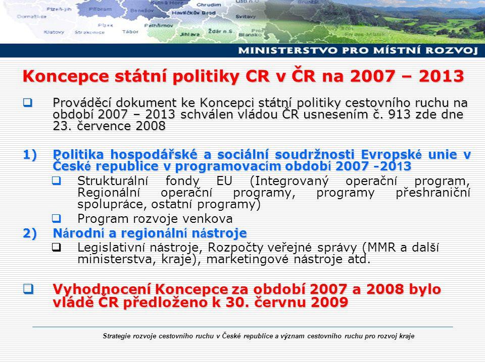 Koncepce státní politiky CR v ČR na 2007 – 2013
