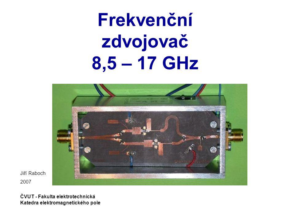 Frekvenční zdvojovač 8,5 – 17 GHz