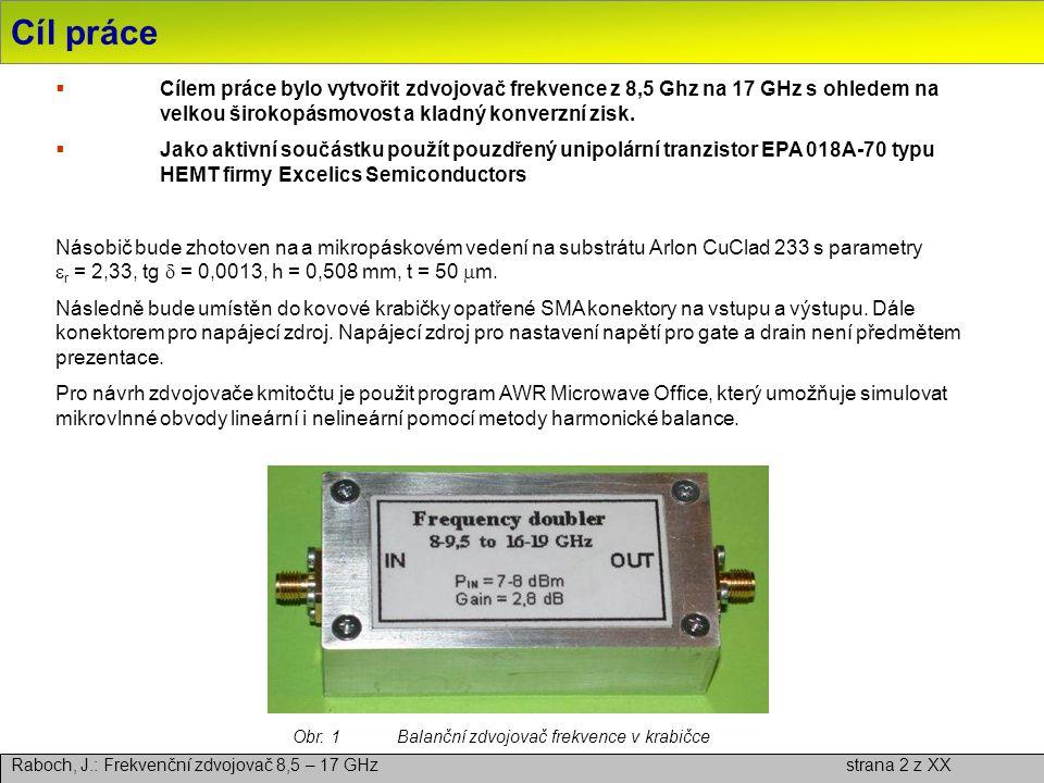 Obr. 1 Balanční zdvojovač frekvence v krabičce