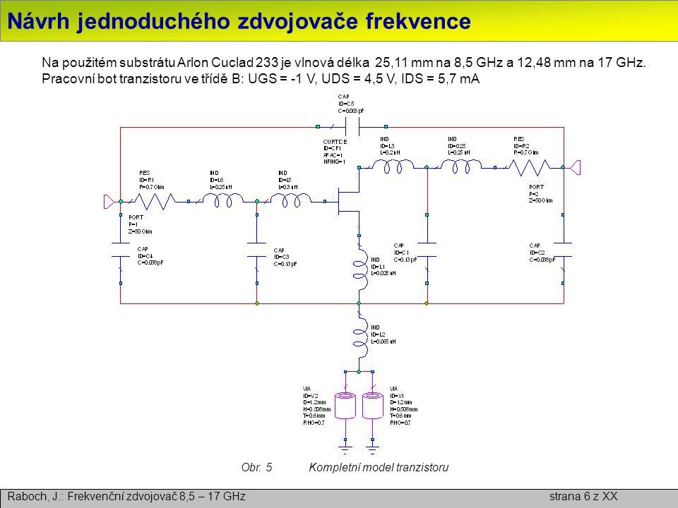Návrh jednoduchého zdvojovače frekvence