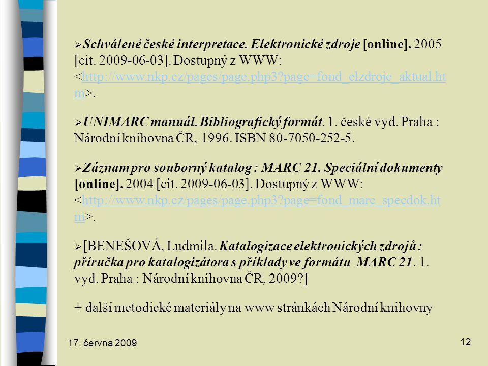 + další metodické materiály na www stránkách Národní knihovny