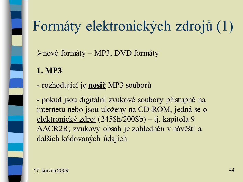 Formáty elektronických zdrojů (1)